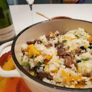 キンパ風混ぜご飯とシャンパーニュのペアリング