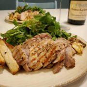豚肉のグリルと白ワインのペアリング