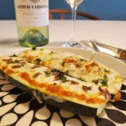 ズッキーニとチーズのオーブン焼きは白ワインとペアリング