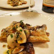 太刀魚のソテーきのこソースと白ワインのペアリング