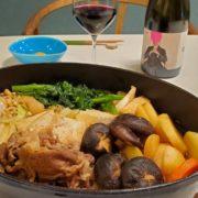 すきやき風鍋と赤ワインのペアリング