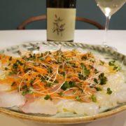 鯛のカルパッチョとワインのペアリング