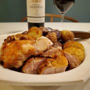 鶏もも肉のステーキとオーブンポテトと赤ワインのペアリング|男の食卓