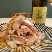 太刀魚の塩ユッケと白ワインのペアリング|手巻き寿司にも
