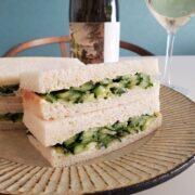 きゅうりのサンドウィッチとスパークリングワインのペアリング