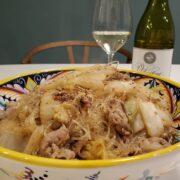 白菜と春雨のうま煮とワインのペアリング 早旨おかず