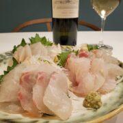 鯛の刺身とワインのペアリング|津本式白寿真鯛