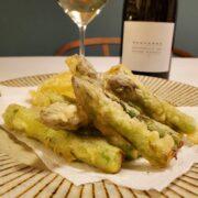 アスパラガスの天ぷらとワインのペアリング