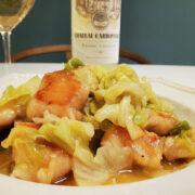 鶏胸肉とキャベツの蒸し煮とワインのペアリング|男飯