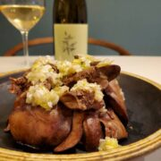 ねぎ塩ダレで食べる茹でレバーもワインとペアリング!