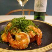 海老のしそペペロンチーノとワインのペアリング