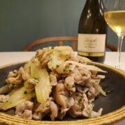 セロリと豚肉の炒め物とワインのペアリング|セロリの香りって爽やか
