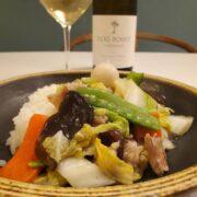 白菜があればすぐできる!八宝菜とワインのペアリング|丼でもOK