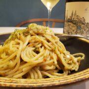 海の家気分!干しエビと青のりのペペロンチーノとワインのペアリング