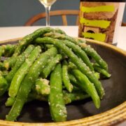 いんげん豆のチーズ和えとワインのペアリング