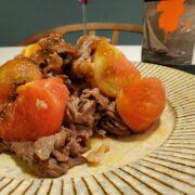 牛肉とトマトの炒め物とワインのペアリング