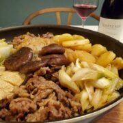 フライパンで簡単『すき焼き風すき焼き』とワインのペアリング|春夏秋冬