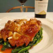 鶏もも肉の甘酢照り焼きとワインのペアリング|黒酢ときび糖でまろやか!
