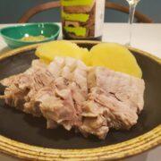 ブライン液で柔らか豚バラの『ゆで豚』・グリビッシュソースで食べるレシピ