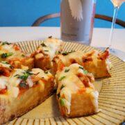 ピザ?じゃない。厚揚げキムチーズとスパークリングワインのペアリング