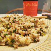 『ニラと挽肉の炒飯、おかずみたいなチャーハン』の作り方とワインペアリングの楽しみ方