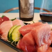 まぐろの刺身と赤ワインのペアリング