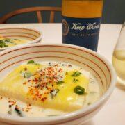 レンジで簡単トロ~リ、『豆腐in豆乳』とワインのペアリング