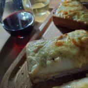 秋夜のベランダでお夜食サンド!クロックムッシュとワインのペアリング