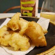 白身魚(まごち)の天ぷらとワインのペアリング