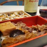 人形町今半『すき焼き重』・大阪双天『焼肉ロール』とワインのペアリング|有名弁当とワイン③④